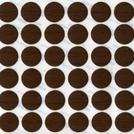13mm Walnut Adhesive Cover Caps