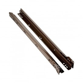 400mm Brown Bottom Mount Drawer Runners