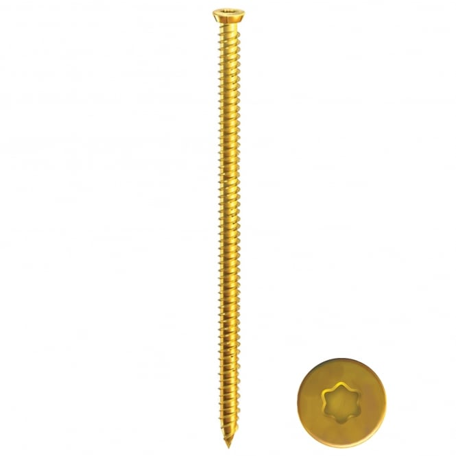 7.5 x 40 Multi- Fix Concrete Screw - Yellow