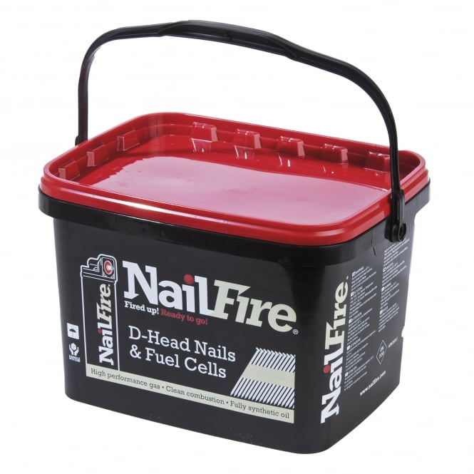 Nailfire 3.1 x 76 Bright Ring Nail Fuel Pack