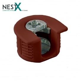 NestX 1 16mm Connecting Fitting Brown Plastic V+H