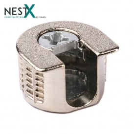 NestX 1 16mm Connecting Fitting Nickel Plated V+H