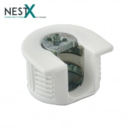 NestX 1 16mm Connecting Fitting White Plastic V+H