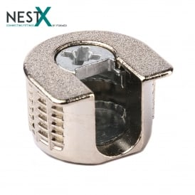 NestX 1 19mm Connecting Fitting Nickel Plated V+H
